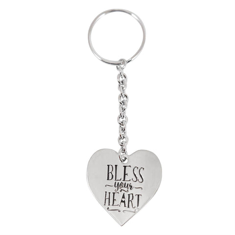 Paula Deen Bless Your Heart Silver Tone Keychain by JTV