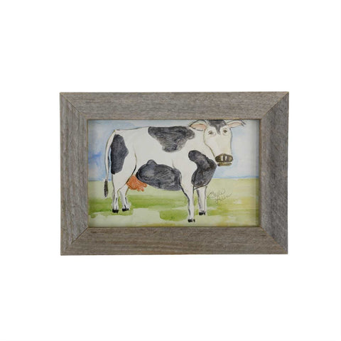 Paula Deen's Watercolor 5X7 Framed Cow