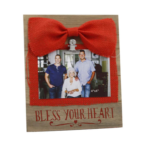 Bless Your Heart Picture Frame with Bow