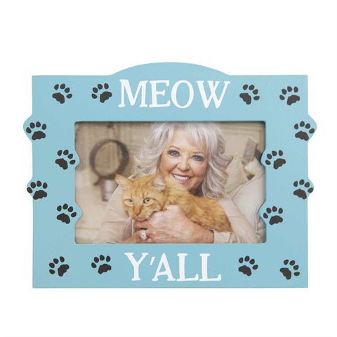 Meow Y'all Cat Picture Frame Teal