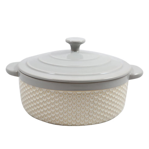 Paula Deen Bee Honeycomb Covered Casserole Dish