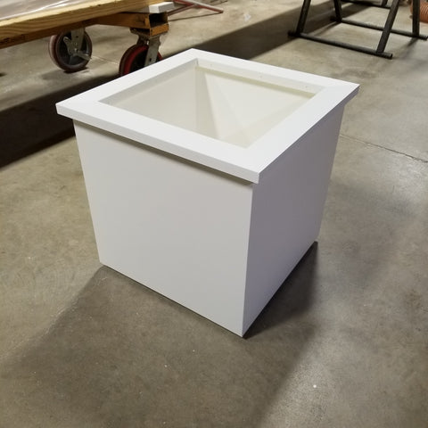 PVC Planter Box , Flat Panel, No rot flower boxes