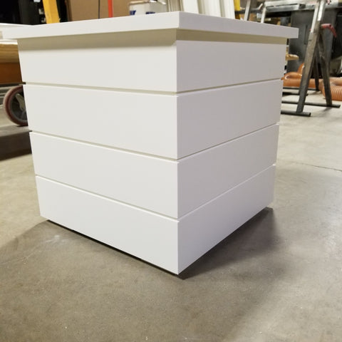 PVC Planter Box , Shiplap Panel, No rot flower boxes