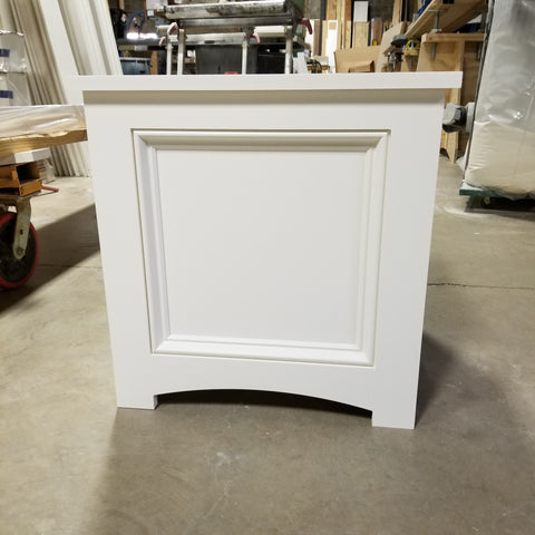 PVC Planter Box , Recessed Panel With Mouldings, No rot flower boxes