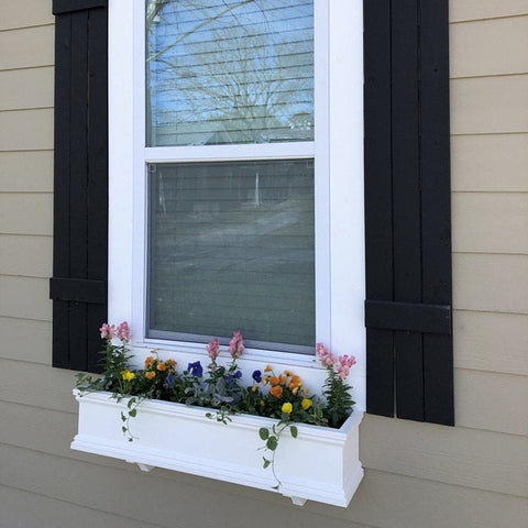 Versatex pvc flower window box