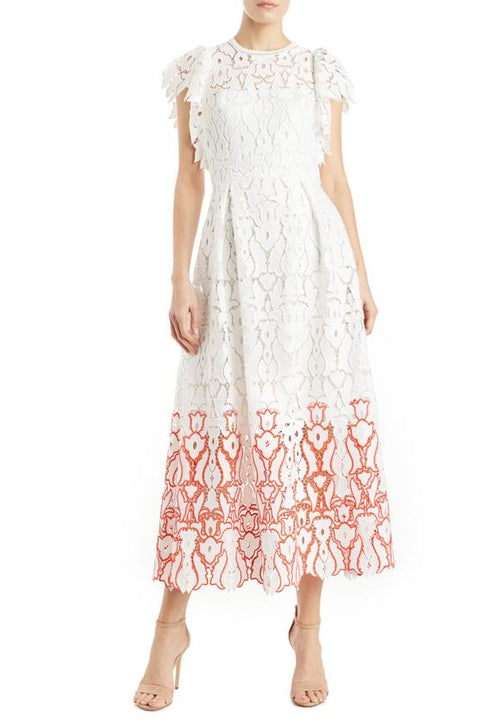 ML Flutter Sleeve Lace Dress