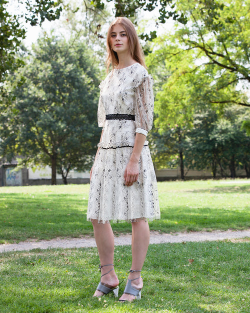 Floral Chantilly Lace Dress