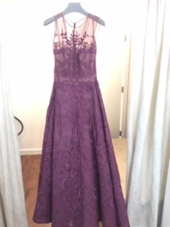 Purple brode A-line gown