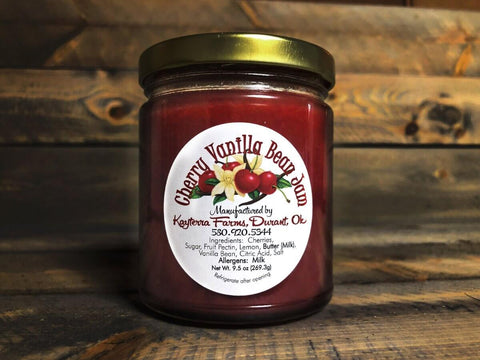 Cherry Vanilla Bean Jam ~ 9.5 oz