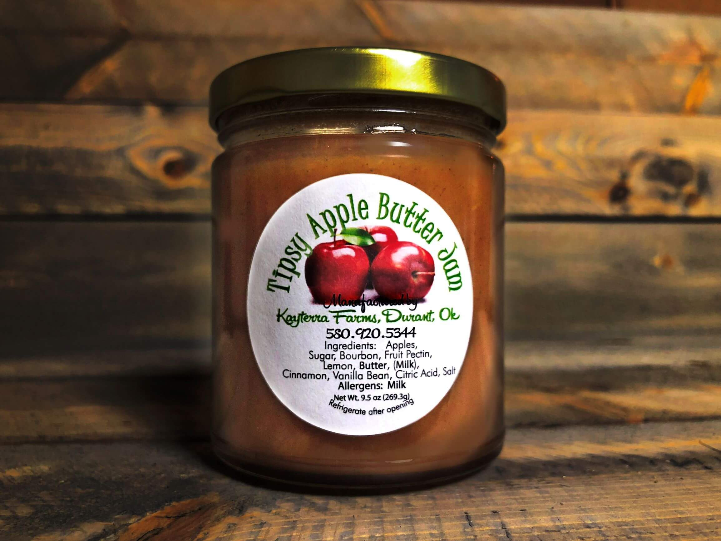 Tipsy Apple Butter Jam ~  9.5 oz