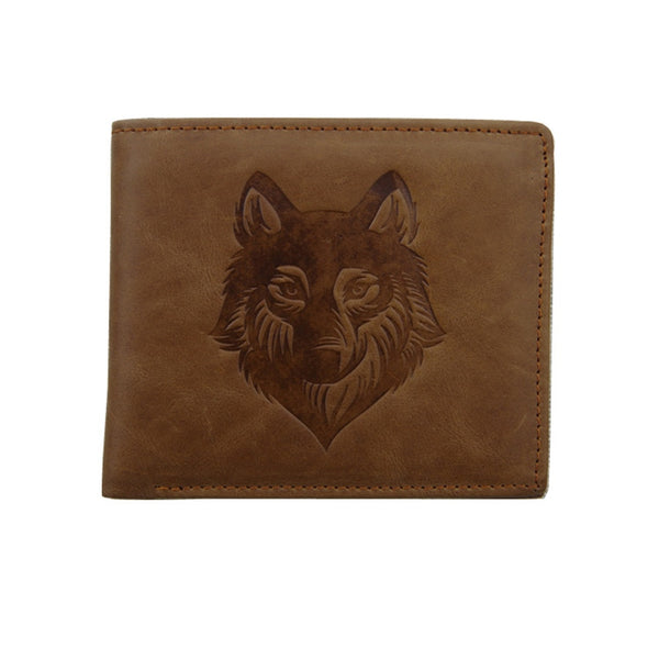 Wolf Leather Wallet - Premium Wolf Store