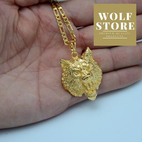 Golden Wolf Necklace - Premium Wolf Store