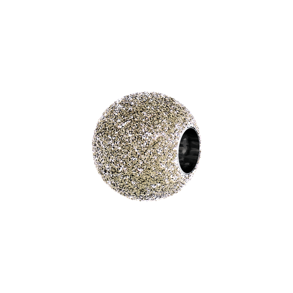 PHIIISH 8MM WHITE GOLD SAND BLAST IN Stainless Steel (316L)