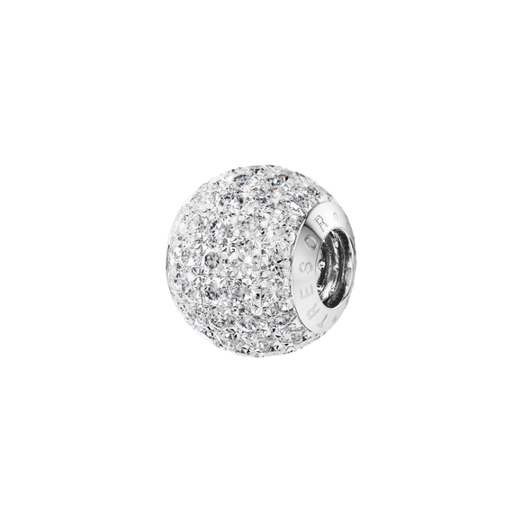 Phiiish 8mm Diamond Colour Crystal Charm in Sterling Silver
