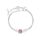 Phiiish 8mm Sterling Silver Ruby Colour Crystal Charm