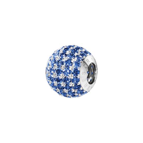 Phiiish 8mm Sterling Silver Blue Sapphire Colour Crystal Charm