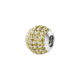 Phiiish 8mm Citrine Colour Crystal Charm in Sterling Silver