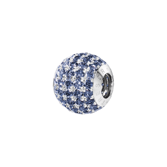 Phiiish 8mm Tanzanite Colour Crystal Charm in Sterling Silver