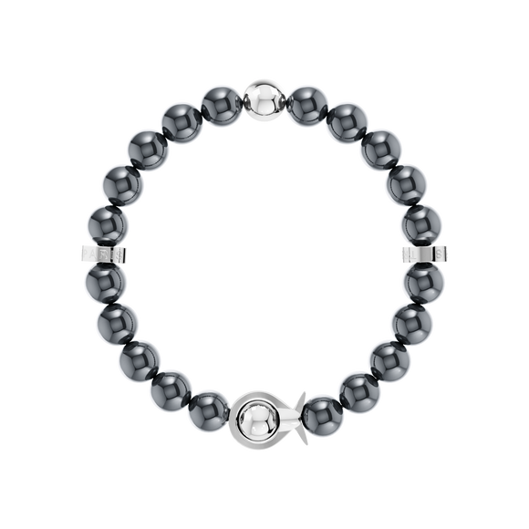 Phiiish Ladies Magnetite Bracelet in Premium White Gold Stainless Steel (L316)