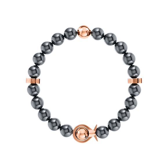 Phiiish Ladies Magnetite Bracelet in Premium Rose Gold Stainless Steel (L316)