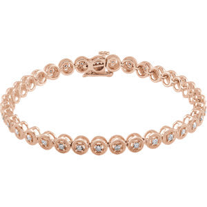 "14K Rose 1 CTW Diamond 7"" Bracelet"