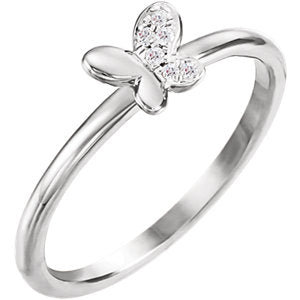 Diamond Butterfly Youth Ring