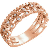 1/8 CTW Stackable Diamond Ring
