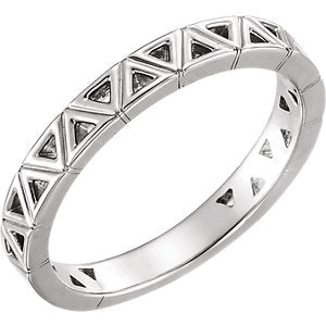 Sterling Silver Stackable Geometric Ring