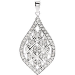 Sterling Silver 1/5 CTW Diamond Pendant
