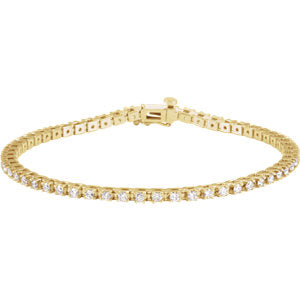 "14K Yellow 2 CTW Diamond Line 7.25"" Bracelet"