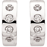 14K White & Rhodium Plated 1/3 CTW Diamond Earrings
