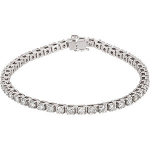 14K White 4 1/2 CTW Diamond Line 7.25