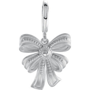 Sterling Silver Vintage-Style Bow Charm