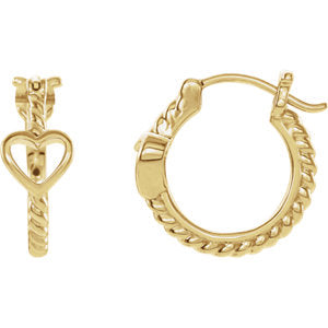 Heart Rope Hoop Earrings