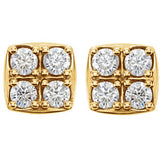 14K Yellow 1/2 CTW Diamond Earrings