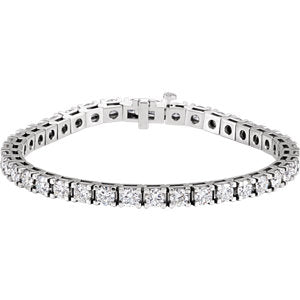 18K White 10 CTW Diamond Line 7.25