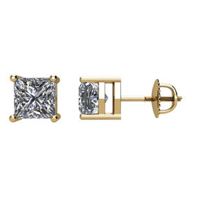 14K 1 CTW Diamond Earrings