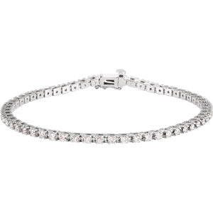 14K White 2 CTW Diamond Line 7.25