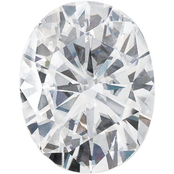 7x5 mm Oval Forever One Colorless Moissanite