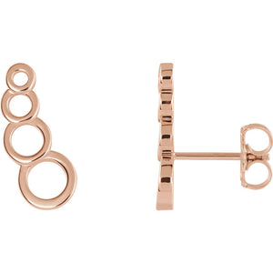 Sterling Silver Geometric Ear Climbers