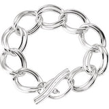 18.86mm Link Bracelet with Toggle Clasp