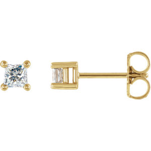 14K 1/4 CTW Diamond Earrings