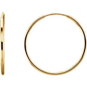 14k Gold Endless Hoop Earrings