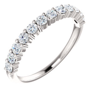 14K White 2.5mm Round Forever One™ Moissanite Anniversary Band