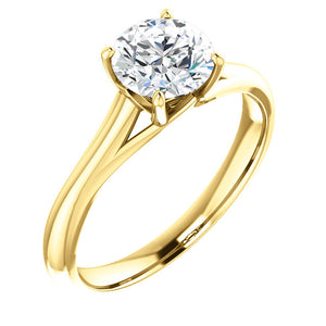 1ct Charles & Colvard Solitaire Engagement Ring