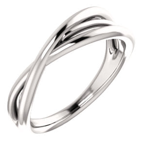 Platinum Criss Cross Ring