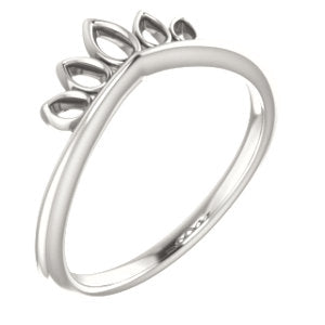 Sterling Silver Marquise-Shaped Crown Ring