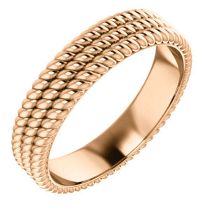 14K  Layered Stacked Rope Band