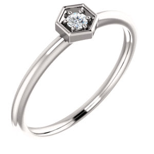 14K 2.5mm Round Forever One™ Moissanite Ring