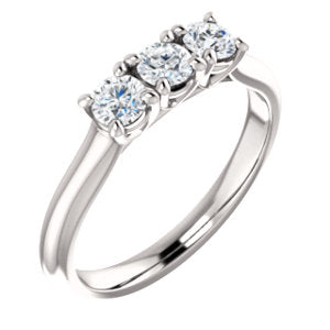 14K White 3.5mm Round Forever One™ Moissanite Anniversary Band